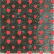 """FOIL WRAPPER 6"""" x 6""""-HEART PRINT--PKG/1000"""