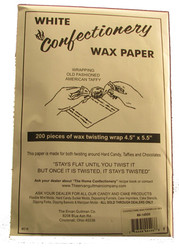 "CONFECTIONERY TWISTING WAX PAPER 4-1/2"" X 5-1/2""--PKG/200"