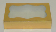 "COOKIE BOX-GOLD 8 3/8"" x 5¼"" x 2"""