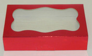 "COOKIE BOX-RED 8 3/8"" x 5¼"" x 2"""