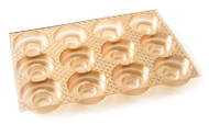 GOLD TRUFFLE/COOKIE INSERT ONLY (BOX NOT INCLUDED)--PKG/25