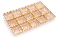 1/2# GOLD SQUARE CAVITY INSERT ONLY (BOX NOT INCLUDED)--PKG/25