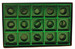 1/2# GREEN SQUAR CAVITY INSERT ONLY (BOX NOT INCLUDED)--PKG/25