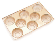 1/2# GOLD 12-SIDED CAVITY INSERT ONLY (BOX NOT INCLUDED)--PKG/25