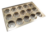 1# GOLD 12-SIDED CAVITY INSERT ONLY (BOX NOT INCLUDED)--PKG/25