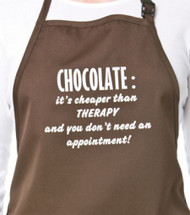 APRON-CHOCOLATE:CHEAP THERAPY