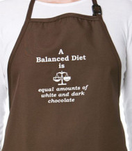 APRON-BALANCED DIET OF CHOC