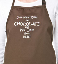 APRON-HAND OVER THE CHOCOLATE