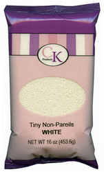 16 OZ NON-PAREILS TINY WHITE