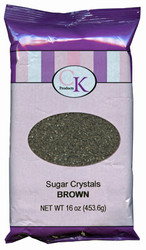 16 OZ SUGAR CRYSTALS-BROWN