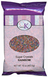 16 OZ SUGAR CRYSTALS-RAINBOW