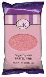 16 OZ SUGAR CRYSTALS-LITE PINK