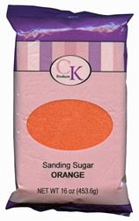 16 OZ SANDING SUGAR-ORANGE