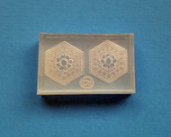 Clear Brooch Mold #14--Clear Silicone
