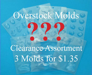 Set of 3 Chocolate and/or Hard Candy Overstock/Clearance Molds