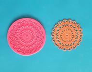 "Starburst Lace Mat - Silicone--2-7/8"""
