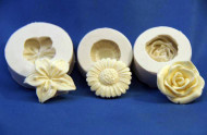 Floral Trio Molds--Silicone - 3 pieces