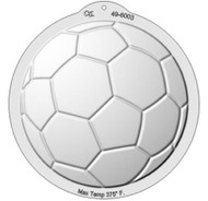 PLASTIC PAN-SOCCER BALL CAKE PAN--10""