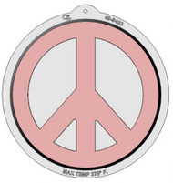 "PLASTIC PAN-PEACE SIGN CAKE PAN--10"" x 2"""