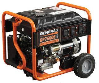 Generac 5943, 7500 Running Watts Gas Powered Portable Generator, CARB Compliant