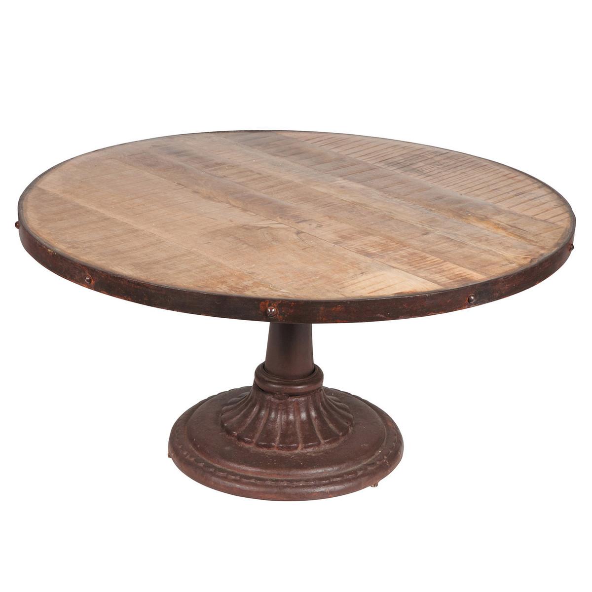 Reclaimed Mango Wood Iron Coffee Table