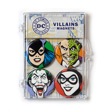 THE COOP DC COMICS VILLAINS 4 PC MAGNET SET