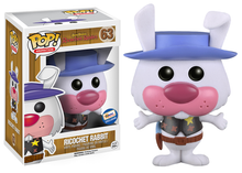 FUNKO POP! ANIMATION HANNA BARBERA: FLOCKED RICOCHET RABBIT GEMINI COLLECTIBLES EXCLUSIVE VINYL FIGURE - CLEARANCE