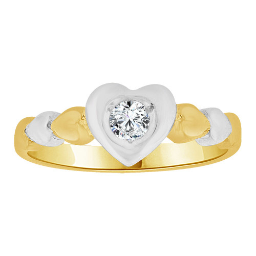 Fine Gold Heart and Love Lady Rings 14k