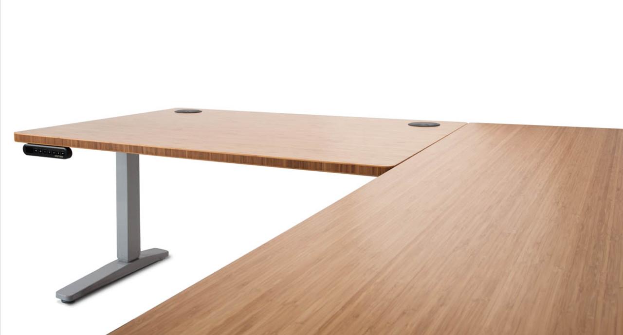 Standing Desk Extension Height Adjustable Standing Desk With L Shaped Top Shop Uplift Desk