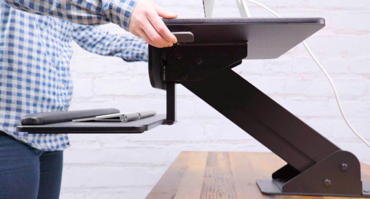 Varidesk review standing desks epic reviews - Standing Desk Converter Riser Or Clamp Uplift Desk