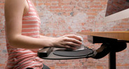 The UPLIFT Large Keyboard Tray features 360° of rear swivel for easy adjustment and storage