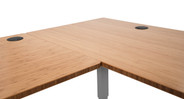 Sit, stand, and work with more space at this uplifting desk