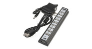 Use up to 10 USB-enabled devices simultaneously with the UPLIFT 10-Port 2.0 USB Hub