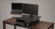 A full ergonomic desk converter can change up your desk instantly, without needed a whole new desk