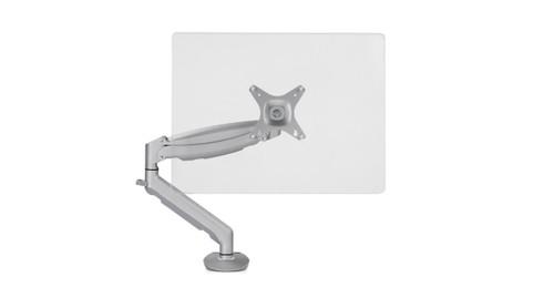 Dual Monitor Arm Uplift Desk
