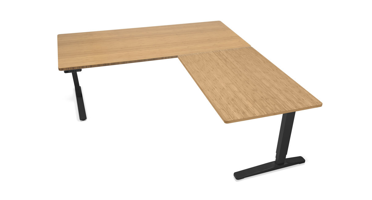 Height Adjustable Standing Desk With L Shaped Top Shop