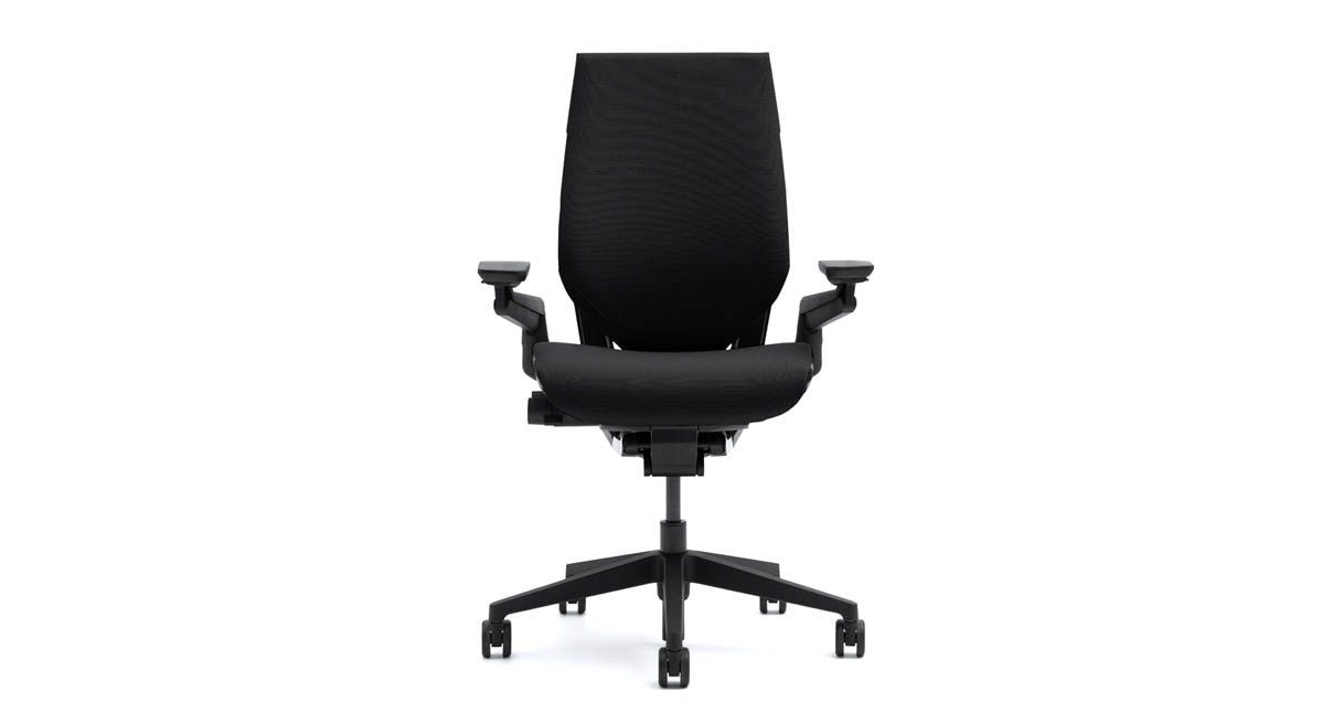 Steelcase gesture chair front - Adaptive Bolstering Technology Features Air Pockets Carefully Placed Beneath The Foam To Give Consistent Comfort And