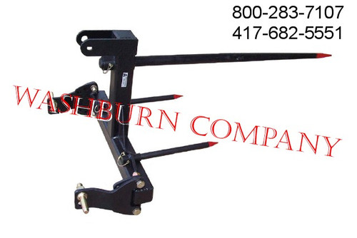 3 Point Hay Bale Spear Mover for Cat 1 and Cat 2, 3 pt hitch