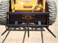 "Skidsteer Hay Bale Mover 3 spear 39"" Long 4' wide HD frame, hay spear for skid steer, Hay bale spears are rated at 3000# at 30"" load center, loader hay spear, hay spears  aw"