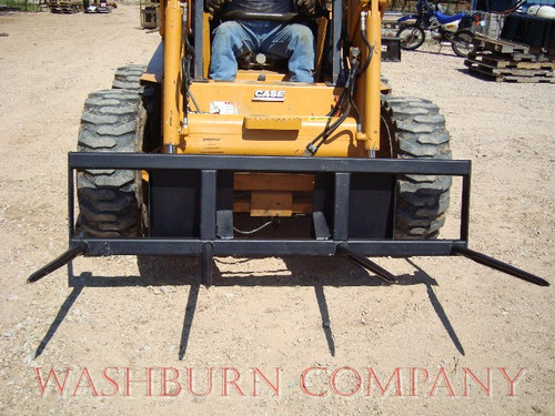 "Skid Steer Hay Bale Mover 4-39"" Spears 6' Frame,  hauls 2 round bales, can also be used on square bales"
