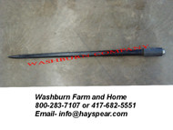 "33"" Tapered Hay Bale Spear 1 3/8"" Dia w/ Nut"