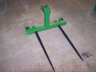 "3 point Hay Bale Mover Cat 1 Quick Coupler 2-39"" Spear, 3 point, 3 point bale spear, bale tine, bale prong, bale spike, 3 point cat 1, 3 point quick coupler  mc"