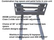 """48"""" Pallet Forks & Hayspear Combo 4000# Forks"""
