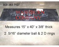 "2 5/16"" Gooseneck Plate For Pickup Truck Bed, w/ 2 D Rings"