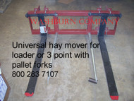 "Adjustable Pallet Fork 2 Spear, 48"" Long"