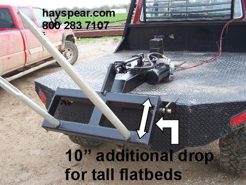 """Pickup Truck 12 v Hydraulic Hay Bale Stacker Flatbed 10""""Drop"""