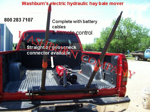 Pickup Truck 12 Volt Hydraulic Hay Bale Spear Straight Neck
