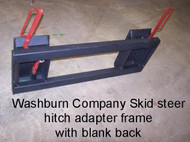 Skid Steer Hitch Adapter with Blank EXTRA Heavy Duty Frame