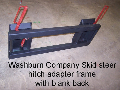 Skid Steer Hitch Adapter With Blank Heavy Duty Frame