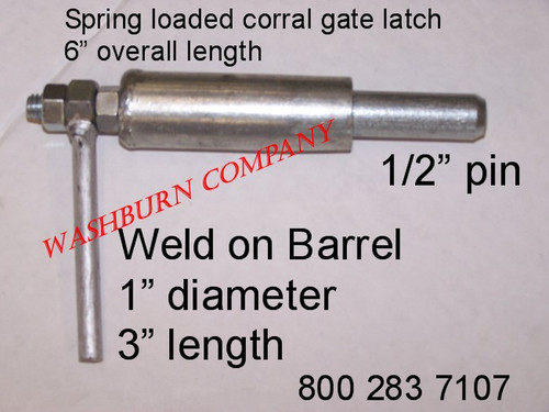 Small Corral Gate Latch Spring Loaded 1 2 Quot Pin